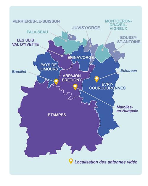 Carte des natennes de l'UTL-Essonne